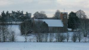 Carlton Church bathed in the deep snow