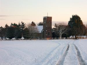 Carlton Church in the snow