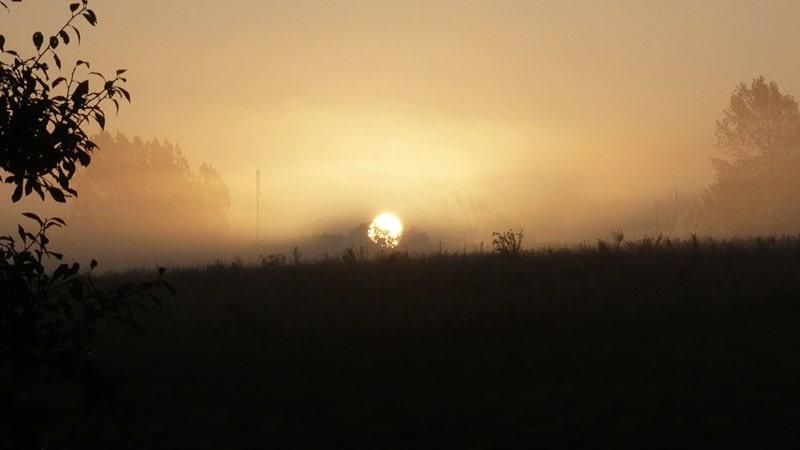 Sunset at Kelsale cum Carlton