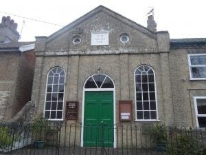 A picture of the facade of the. Kelsale Methodist Chapel